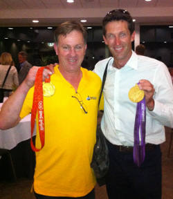 Greg Seers with Back-Back Olympic Gold Medal Winner Malcolm Page