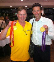 Greg Seers with Back-Back Gold Medal Winner Malcolm Page