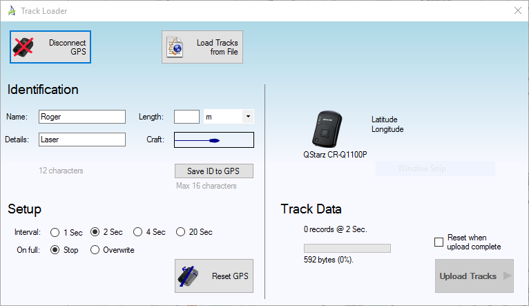 Tracker Manager Dialog